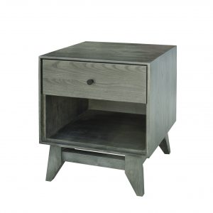 Woodcastle Montano 1 Drawer Night Table, Slate Stain