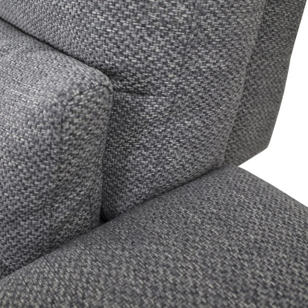 Motion Sofa in Grey Fabric, Close Up