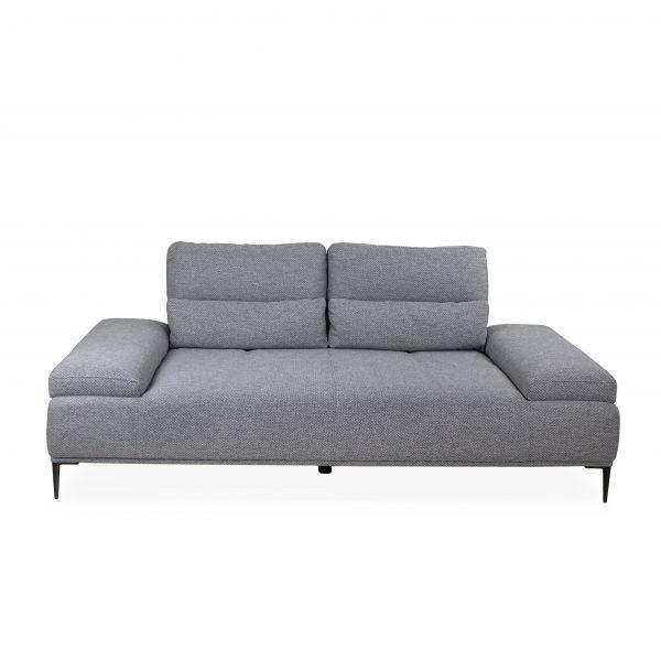 Motion Sofa in Grey Fabric, Straight