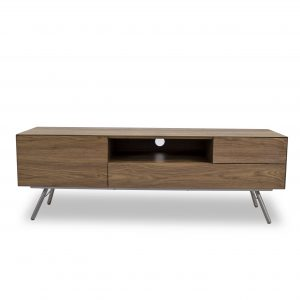 Naia TV Unit in Walnut, Front