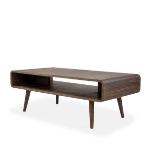 Newport Coffee Table in Walnut, Angle