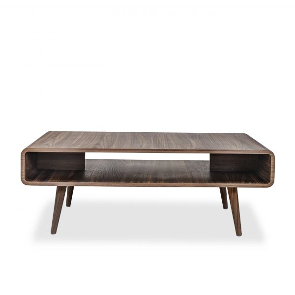 Newport Coffee Table in Walnut, Front