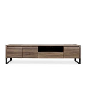 Olympia TV Unit in Walnut, Front
