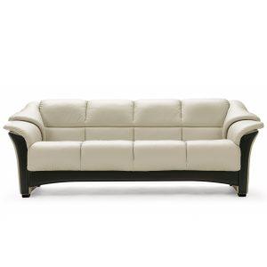 Ekornes® Oslo Sofa in Paloma Light Grey and Wenge Wood