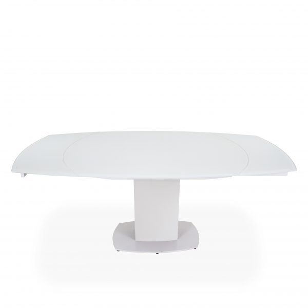 Paul Dining Table in White, Straight, Extended