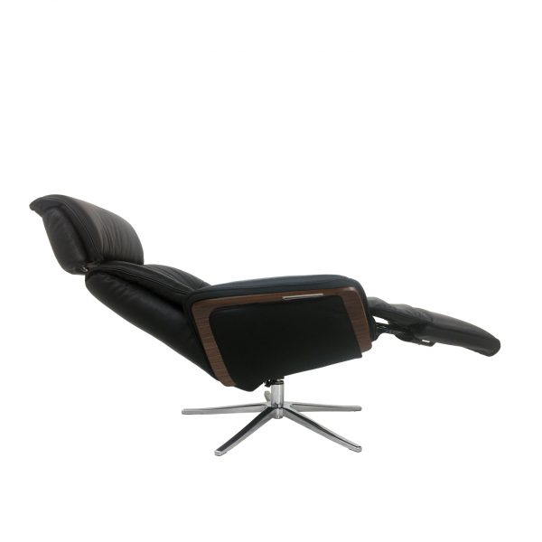 IMG Space SPM5300 Recliner in Trend Tuxedo, Side Profile, Reclined