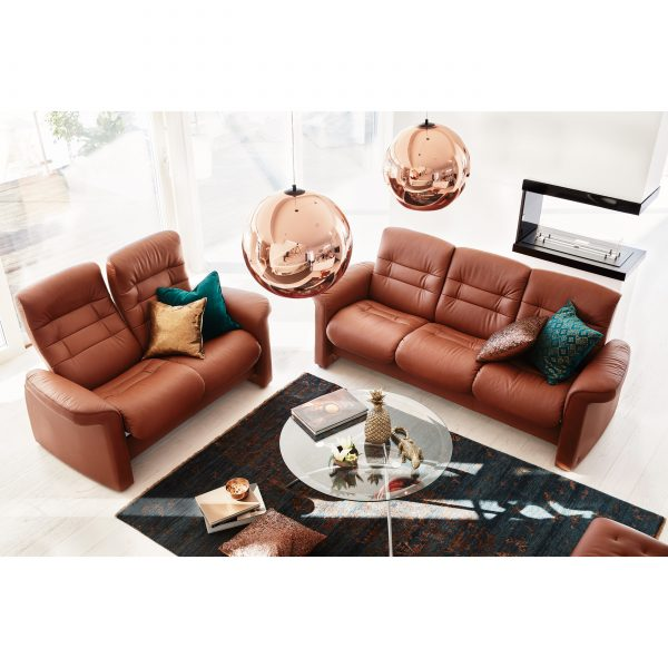 Stressless Sapphire Sofa and Loveseat in Living Room, Top View