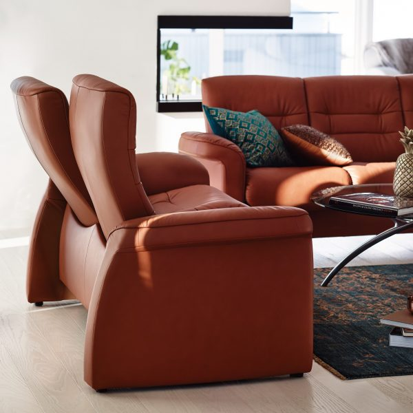 Stressless Sapphire Sofa and Loveseat in Living Room