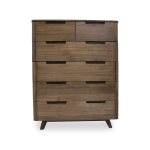 Tahoe High Chest in Walnut, Front