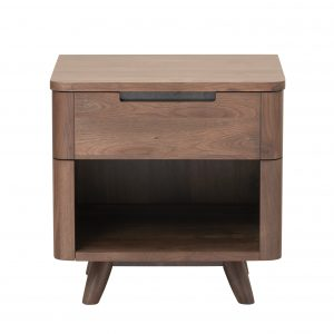Tahoe Nightstand in Walnut, Front