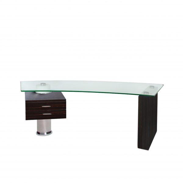 Trapeze Desk in Ebony, Straight
