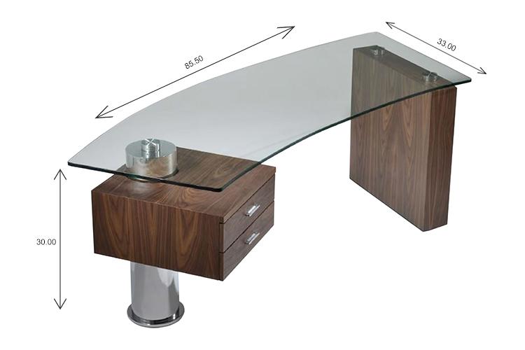 Trapeze Desk Dimensions