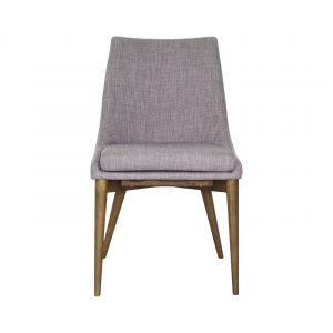 Vista Dining Chair in Light Grey Fabric, Front