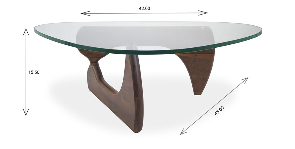 Beta Coffee Table with Dimensions