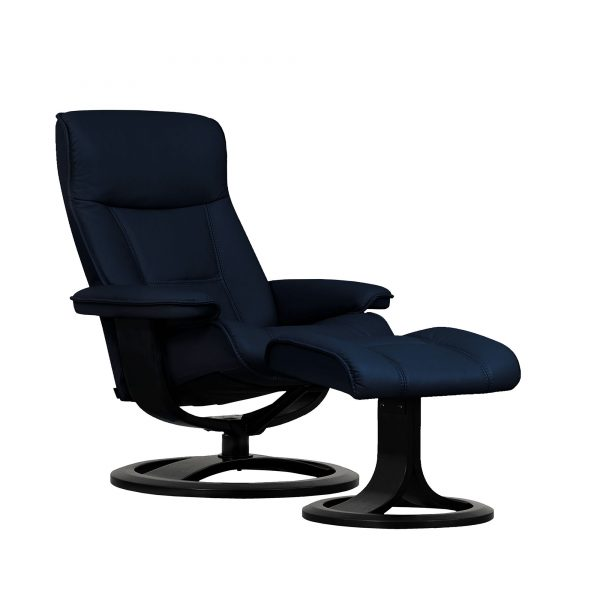 IMG Nordic 21 Leather Recliner, Prime Blue Leather