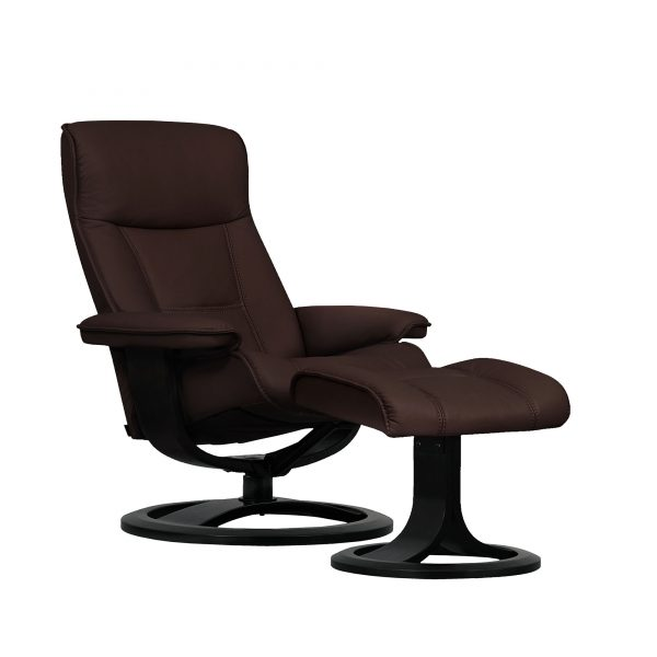 IMG Nordic 21 Leather Recliner, Prime Chocolate Leather