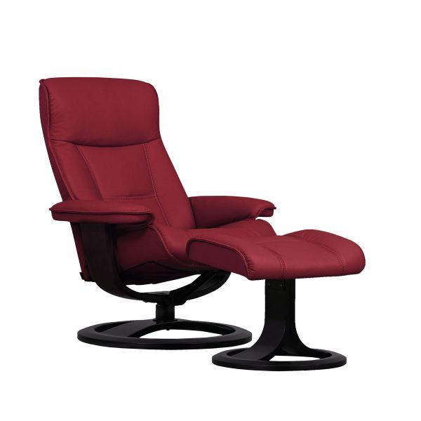 IMG Nordic 21 Leather Recliner, Prime Red Leather