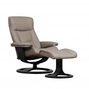 IMG Nordic 21 Leather Recliner, Espresso Base