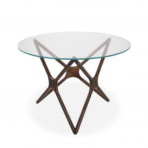 Nova Dining Table with a Walnut Base