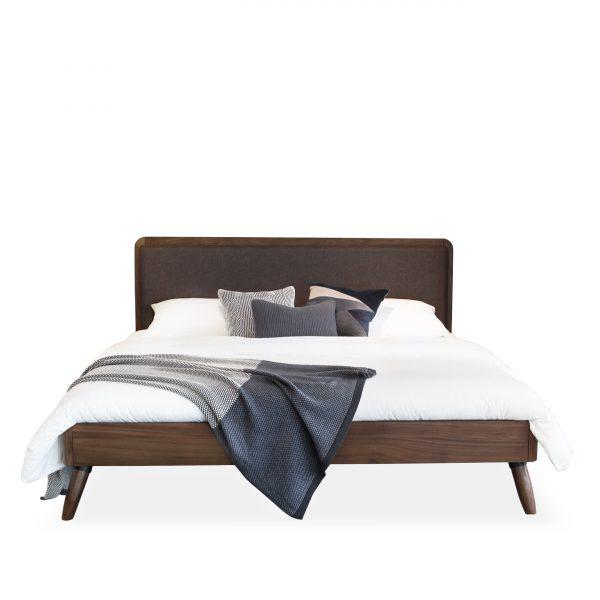 Tahoe Bed in Walnut, Front