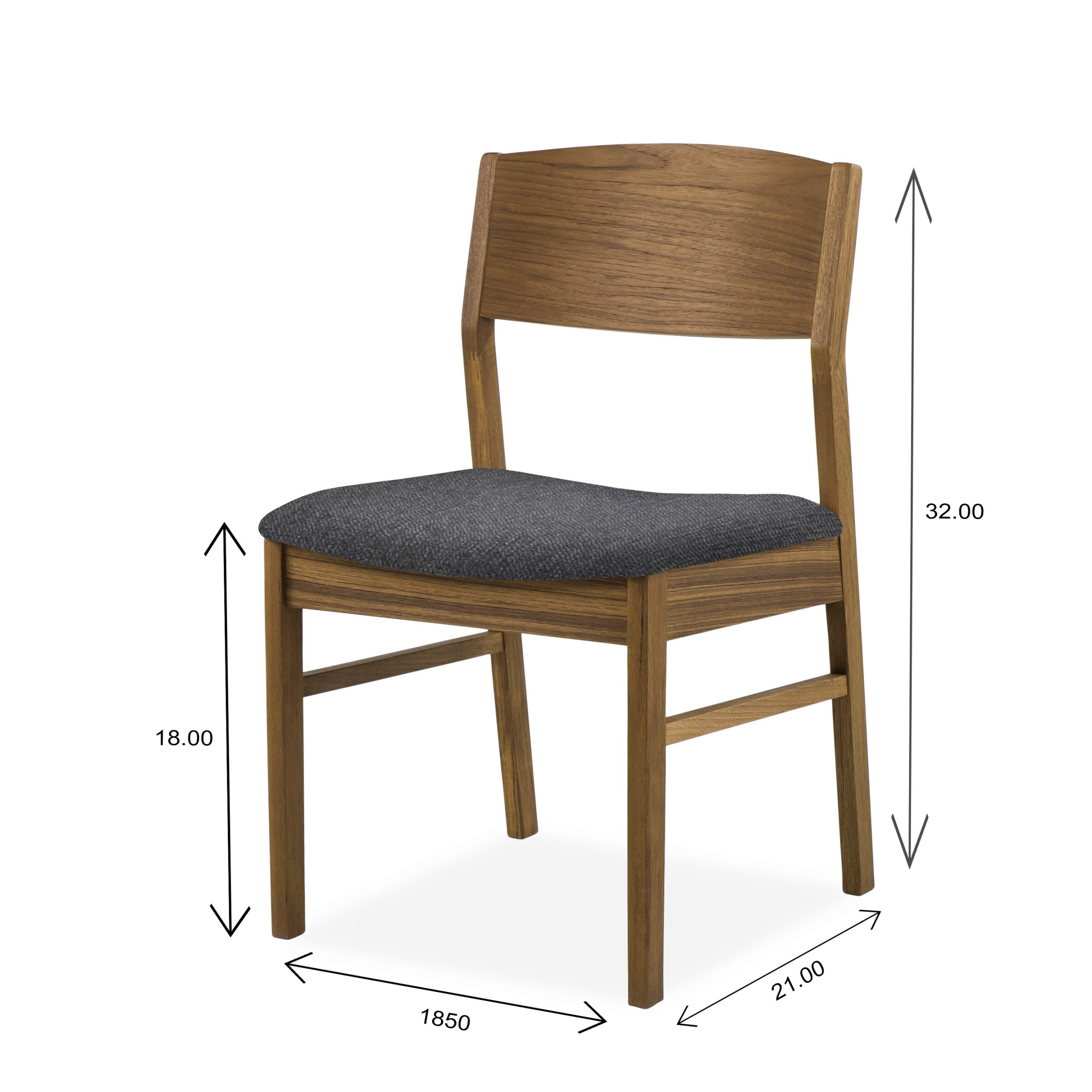 Sun Cabinet 1012 Dining Chair in Teak with Dimensions