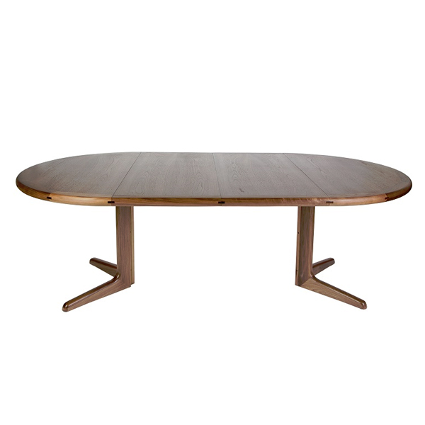 Sun Cabinet 2050 Dining Table in Walnut with Leaves