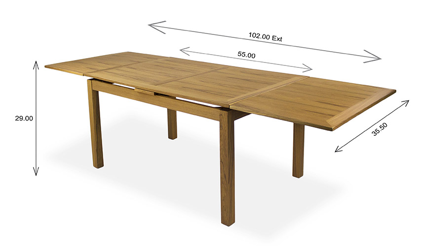Sun Cabinet 2310/DI Dining Table Teak Dimensions