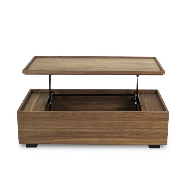 Dallas Coffee Table in Walnut, Straight, Hydraulics