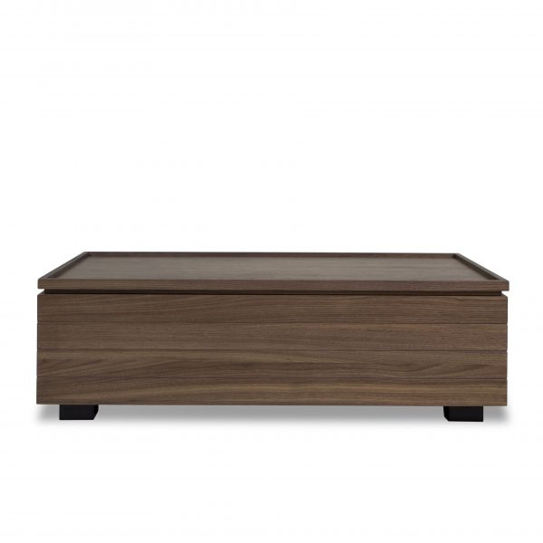 Dallas Coffee Table in Walnut, Straight