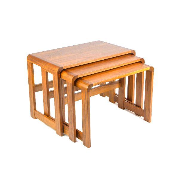 Sun Cabinet 3018 Nesting Tables in Teak, 2