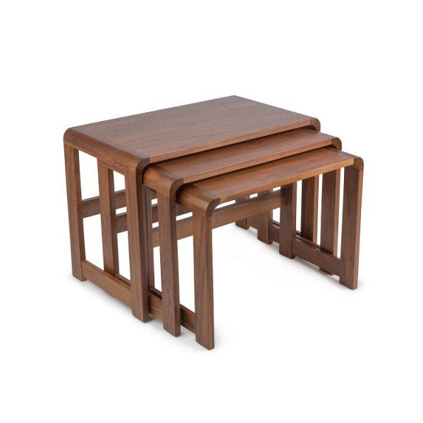 Sun Cabinet 3018 Nesting Tables in Walnut, 2