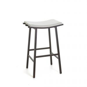Amisco Nathan Counter Stool, White