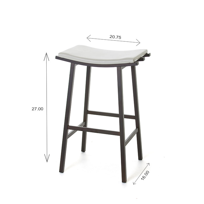 Amisco Nathan Counter Stool Dimensions