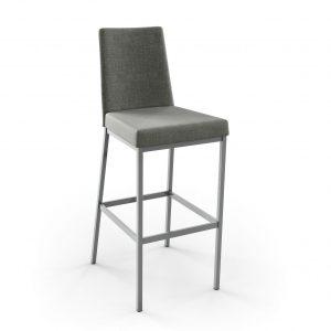 Amisco Linea Counter Stool, Grey Fabric