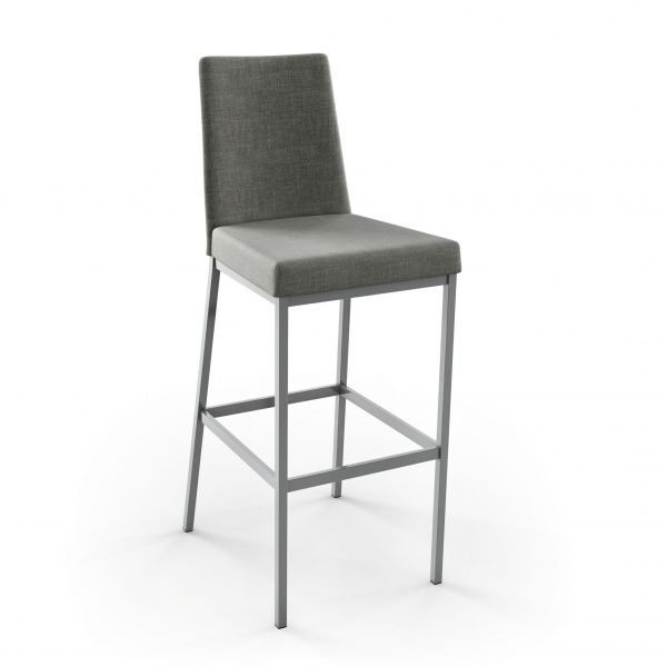 Amisco Linea Counter Stool, Grey Fabric