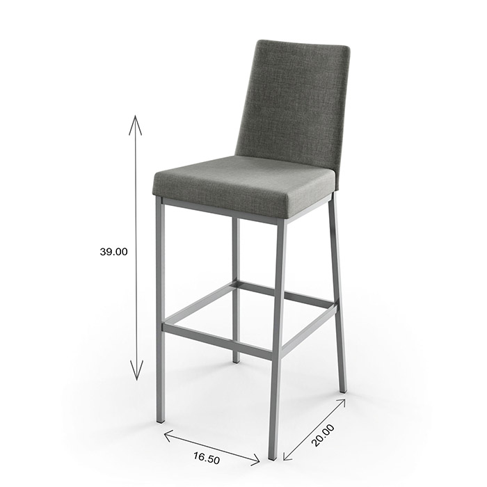Amisco Linea Counter Stool Dimensions
