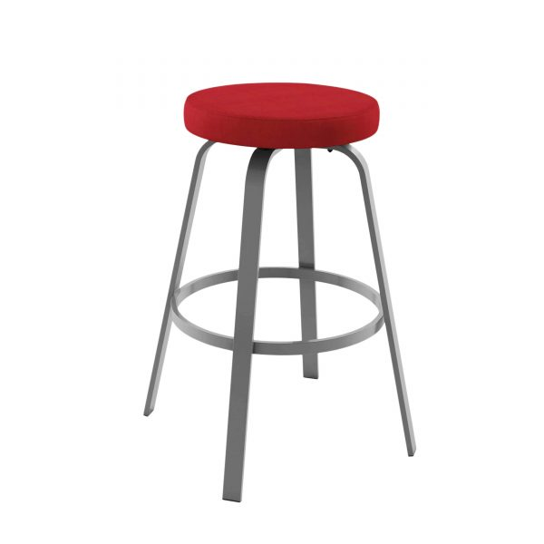 Amisco ReelAmisco Reel Counter Stool, Red fabric