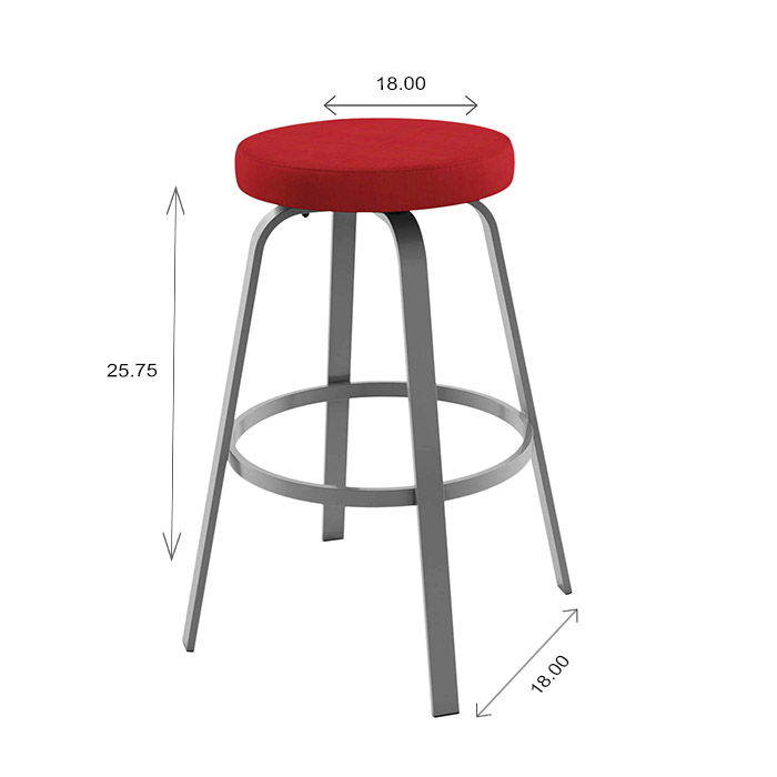 Amisco Reel Counter Stool Dimensions