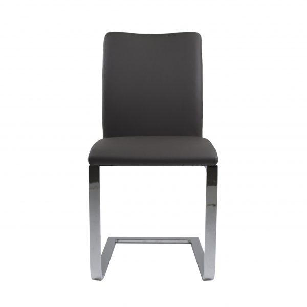Alex Dining Chair in Grey, Front