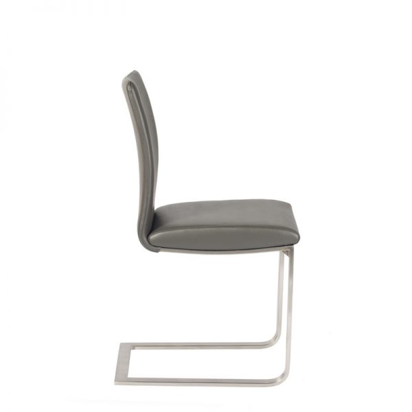 Alex Dining Chair in Grey, Side