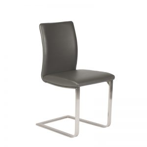 Alex Dining Chair in Grey, Angle