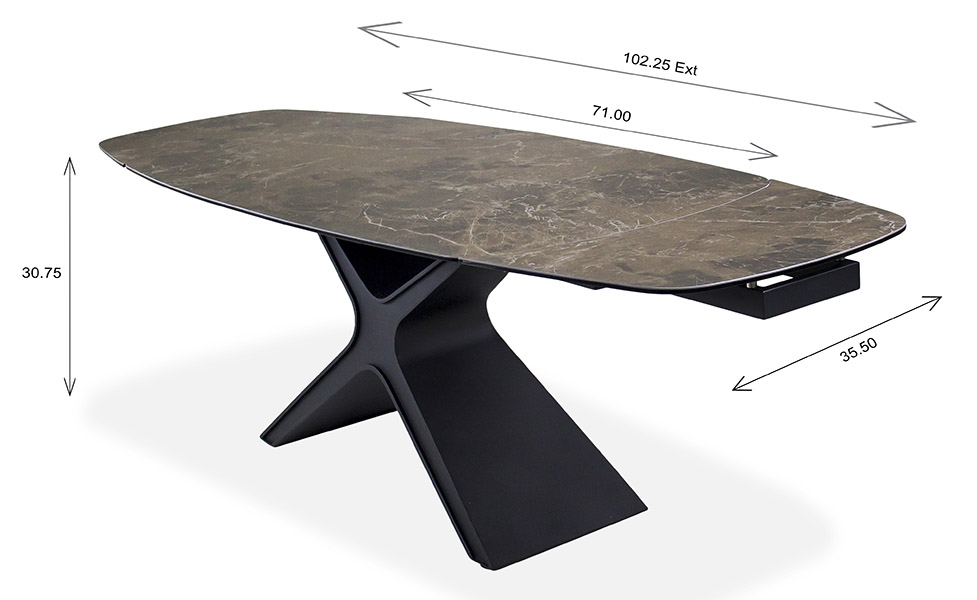 Alida Dining Table Dimensions