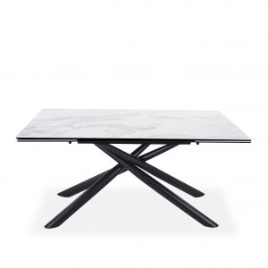 Alton Dining Table, Black Base, Straight