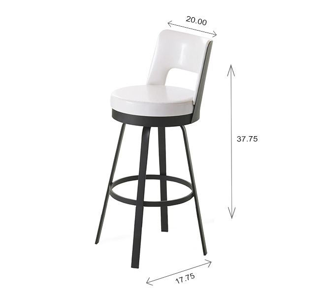 Amisco Brock Counter Stool Dimensions