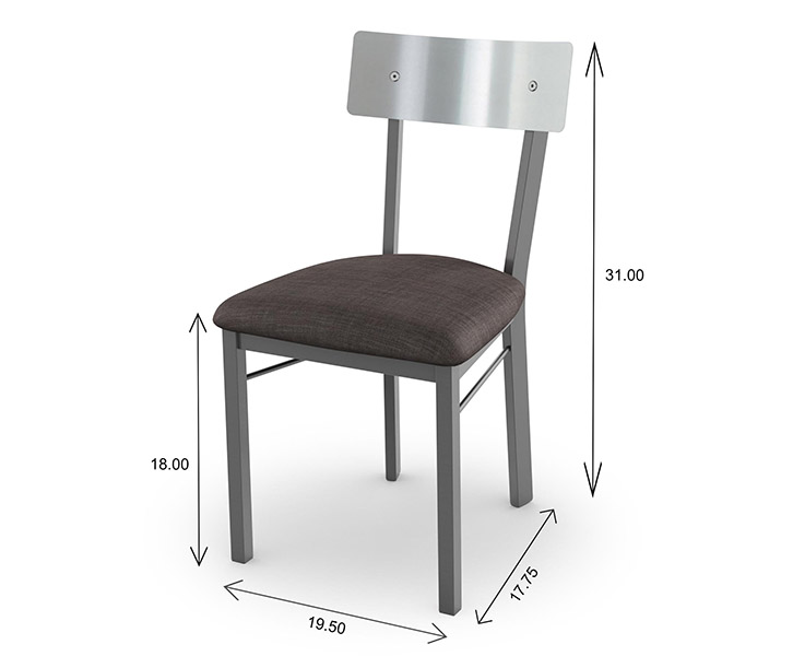 Amisco Lauren Dining Chair Dimensions