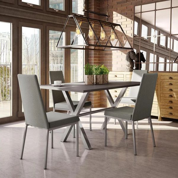 Amisco Linea Dining Chairs around a table
