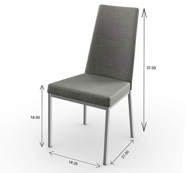 Amisco Linea Dining Chair Dimensions