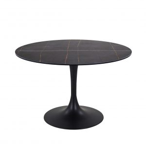 Astro Dining Table with a Black Ceramic Top