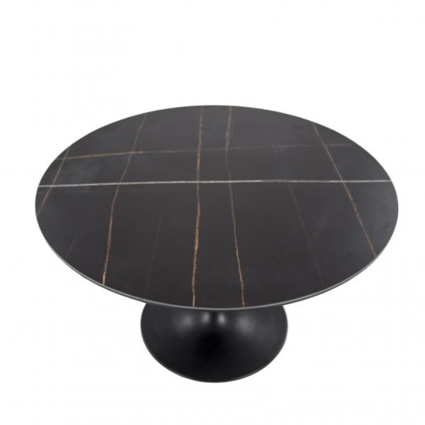 Astro Dining Table with a Black Ceramic Top, Top Angle