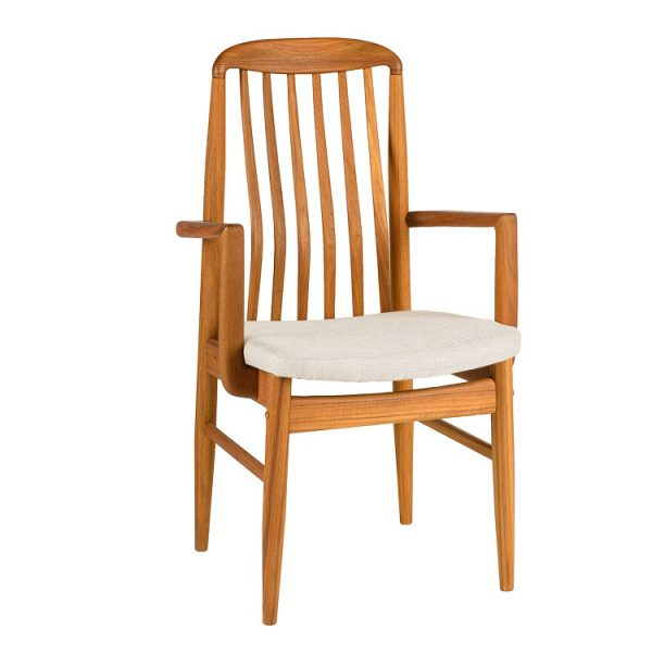 Sun Cabinet BL10 Dining Armchair Front Angle in Teak